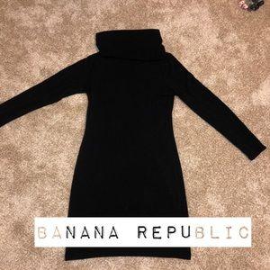 Banana Republic Black Turtleneck Dress Small